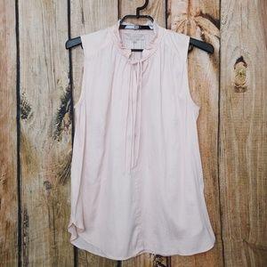 Ann Taylor LOFT Soft Pink Romantic Blouse Top